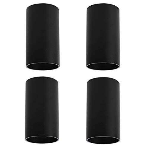 Klighten 4 stks Oppervlaktemontage Plafondspot Mat Zwart Plafondlamp, GU10 Socket, Ronde Moderne Spotlight Aluminium…