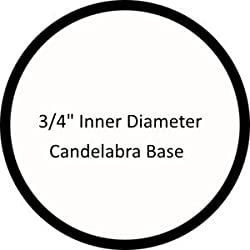 "Set of 6 pc. 4"" Tall White Candelabra Base 13"
