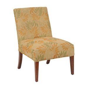 Bailey Street 6080952 Jungle - Slipper Chair Cover, Natural Wood Finish with Cream Fabric Shade (Slipper Chair Covers compare prices)