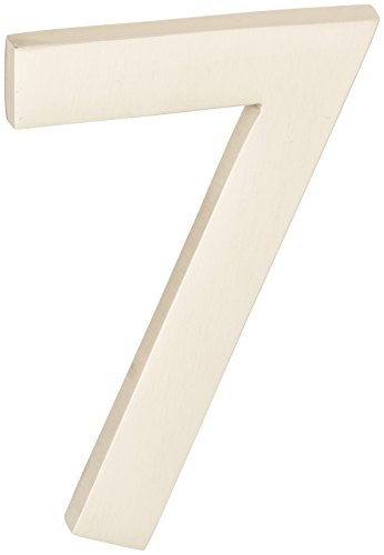 (Architectural Mailboxes 3582B-3 4 in. Brass Floating House Number)