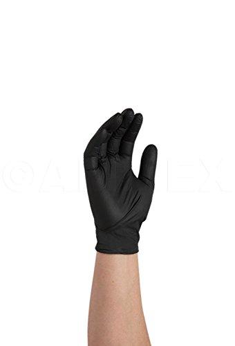 AMMEX-GPNB-Nitrile-Gloves-GlovePlus-100box-Disposable-Powder-Free-Industrial-Grade-5-mil-Black