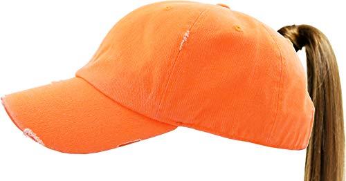 Small Pony - KBETHOS PONY-001 NORG Ponytail Messy High Bun Headwear Adjustable Cotton Trucker Mesh Hat Baseball Cap