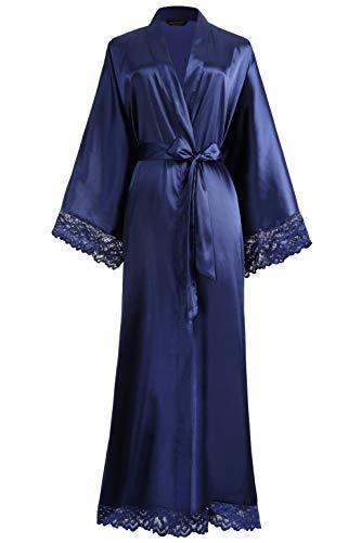 BABEYOND Womens Satin Kimono Robe Long Bridesmaid...