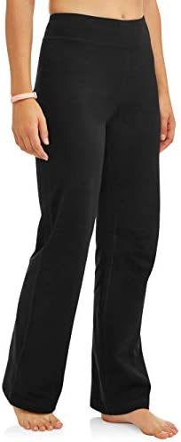 Athletic Works Women's Bootcut Fit Dri-More Core Cotton Blend Yoga Pants Available in Regular and Petite 1