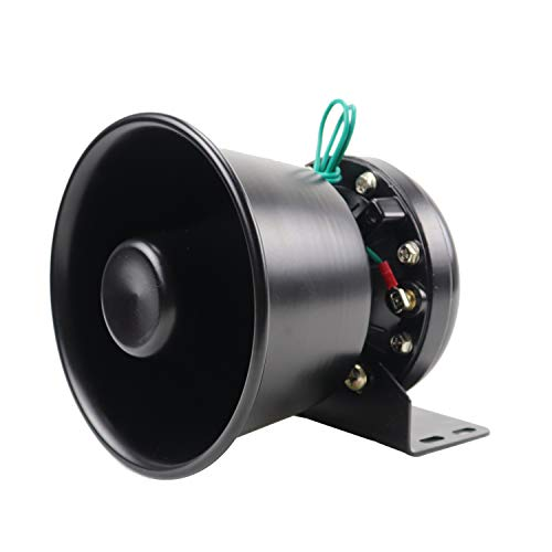 - YHAAVALE 100W Siren Speaker High Performance Car Police Siren Black Round Bell Cone Speaker,DC12V,100W,Capable with Any 100 Watt Police Siren