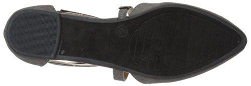 Brinley Co Womens Mirin Flat Sandal Grey DB7tk0Z