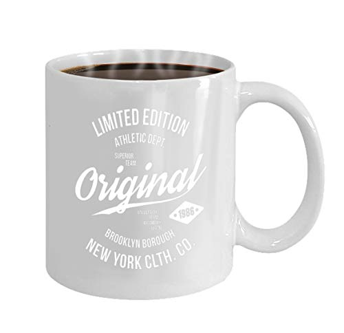 Funny Gifts for Halloween Party Gift Coffee Mug Tea new york brooklyn typography print sports athletic]()