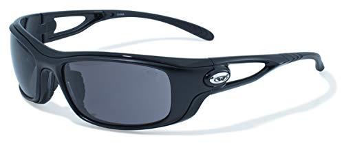 - Global Vision Eyewear Black Frame Bones Safety Glasses with Smoke Lenses