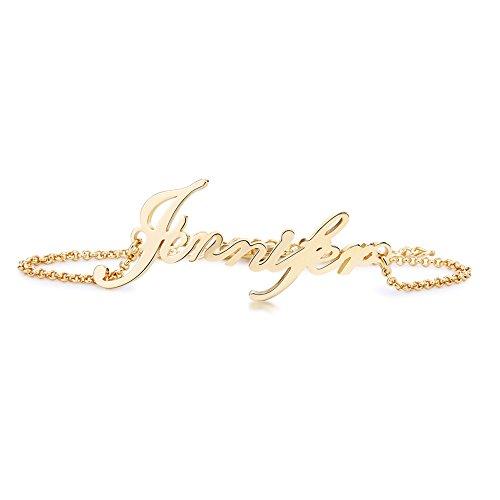 (Stan-Deed Custom Name Bracelet Personalized Women Bracelet Customize Charm Initial Link Bracelet (Gold))