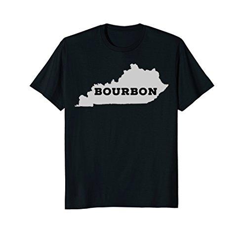 Kentucky T-Shirt Bourbon Trail Barrel Gift State Map Shirt