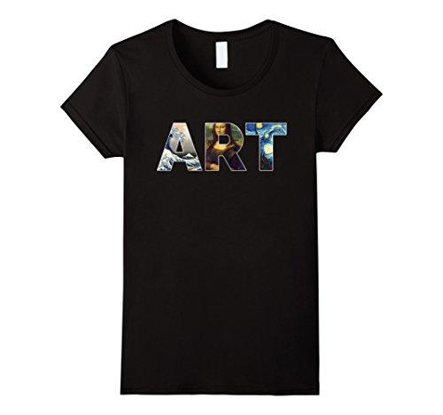 Famous Tee Shirts - Womens Artist Shirt, Famous Works Of Art T-Shirt XL Black