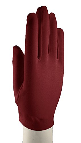 [Burgundy Dress Gloves Wrist Length - Dress Up, Church, Formal, Tea, Costume] (Throwback Halloween Costumes)