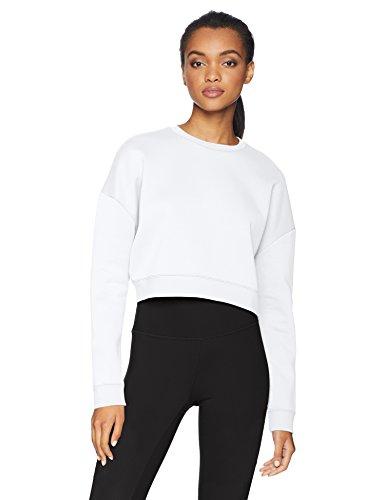 Core 10 Womens  Motion Tech Fleece Cropped Sweatshirt (XS-XL, Plus Size 1X-3X)