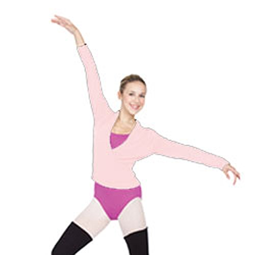 Body Wrappers Big Girls WRAP SWEATER 45 -LIGHT PINK 8-10