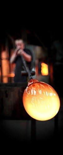 Premium senza piombo vetro soffiato a bocca Vaso da Terra XXL Decorato con Cristalli Swarovski e Sabbiato Libellula Lusso 40 cm Grande Vaso in Vetro Lavorato a Mano