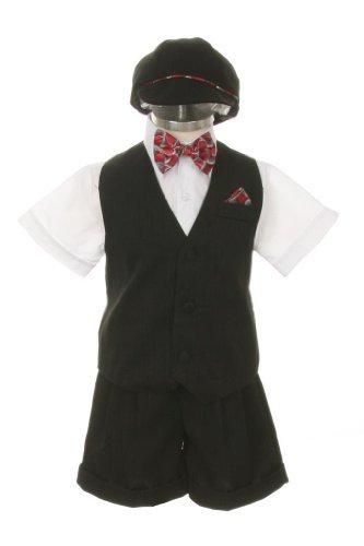 Traje Traje Vestido Set-Shorts, Rojo de Bowtie, chaleco, camisa ...