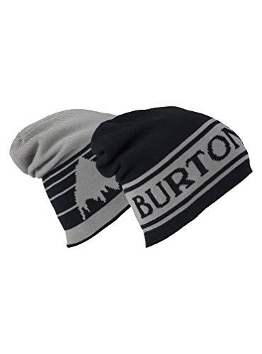 Burton Unisex Billboard Slouch Beanie, True Black/Iron Gray, One Size (Beanie Burton Mens)