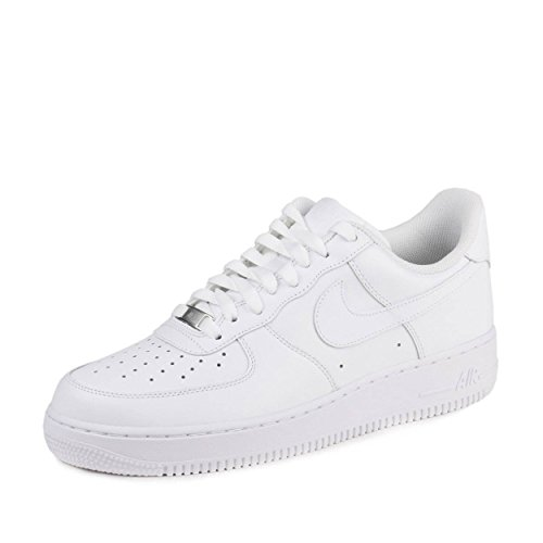 Nike Mens Air Force 1 '07 Low White Leather Size 15