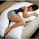 Pillow Pleasure - Cuscino di sostegno per gravidanza, a U, con federa in cotone