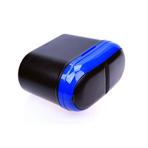 (Car Double-Opening Trash Car Interior Debris Bucket Press Flip Trash Can with Lid Storage Box Order 1K Pcs,Blue)