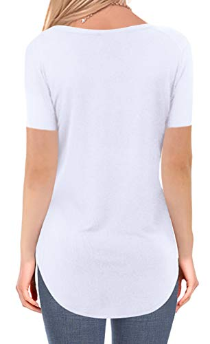 5d3af2c426ad NIASHOT Women's Short and Long Sleeve V-Neck Loose Casual Tee T-Shirt Tops