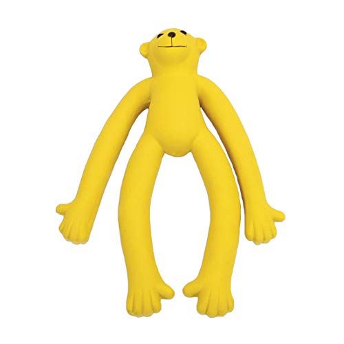 Picture of Coastal Pet Rascals Latex Squeaker Long Legged Monkey Dog Toy 11-Inches , Yellow (2-Pack)