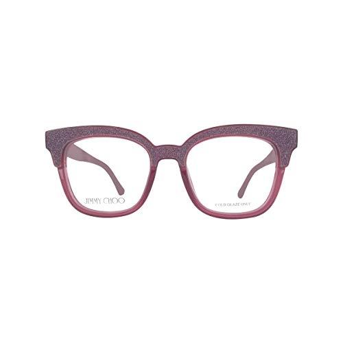 Jimmy Choo Plastic Cat Eye Eyeglasses 49 0197 Plum Glitter Plum