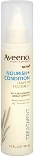Aveeno Nourish+ Condition Leave-In Treatment, Replenish Damaged Hair, 5.2 Fl. Oz
