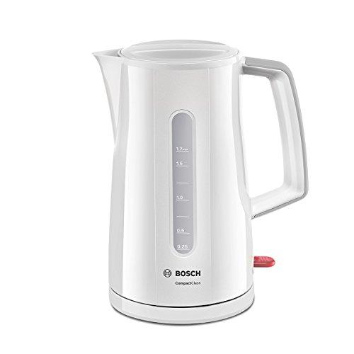 Bosch TWK3A011 Hervidor de Agua, 1 7 litros, 2400 W, Color Blanco