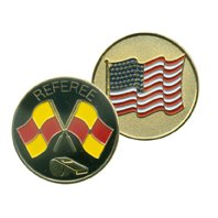 Soccer Referee American Flag Flip Coin (Referee Soccer Usa)