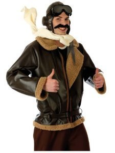 Biggles Costume (Fun Shack Adult Biggles WW2 Wartime Fighter Pilot Costume - MEDIUM by Fun Shack)
