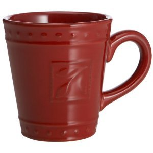 Signature Housewares Sorrento Collection 14-Ounce Mug, Ruby Antiqued Finish