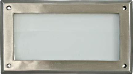 DABMAR LIGHTING DSL1007-SS304 Step Light Open Face 7 Watt PL7 120 Volts, Stainless Stain