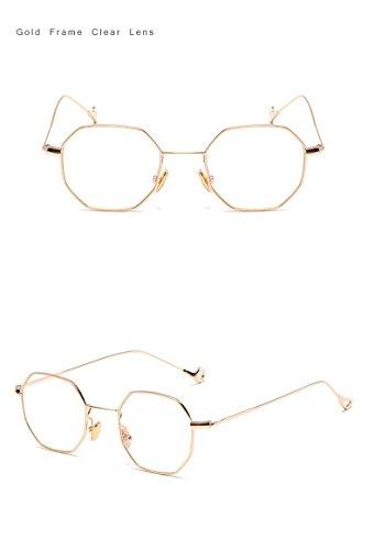 For Tinted Eyeglasses Women Pink Claro Hexagon Lunette Oro Sun Square Eyewear Brand Glasses Designer Unisex Trend Blue Sunglasses Men Fygrend Rc8q1Fy
