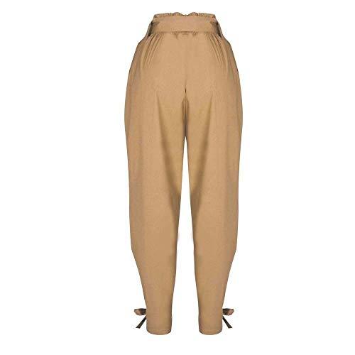 Cargo Vintage Pants Outdoor Party Mode Casual Dames Jeans Ceinturés Sarouel Fashion Tube Pantalons Kaki Taille Chic Haute 8nOmwvN0