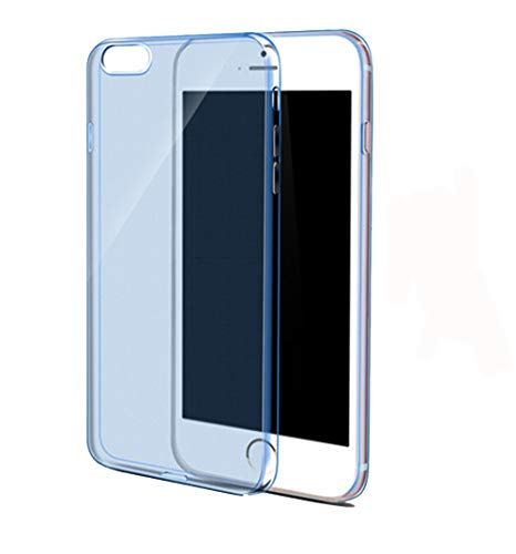 Clear Silicon Ultra Thin Soft TPU Case For iPhone Blue For iPhone 5 5s SE ()