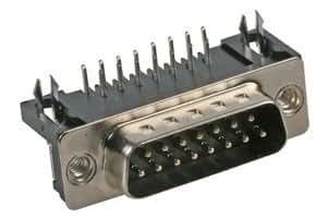 PLUG, D PCB R/A 15 WAY 5504F1-15P-02-03-F1 By MULTICOMP