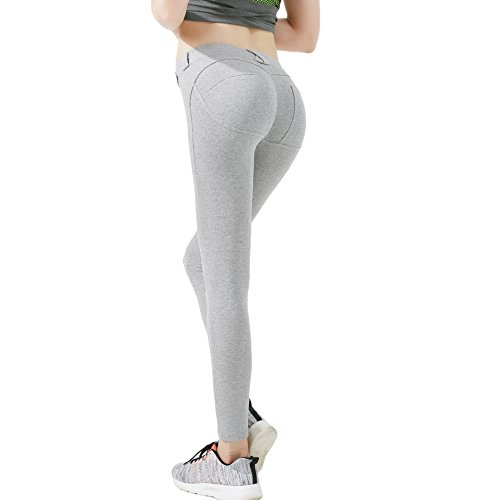 L-Asher Leggings, Sexy Women's Low Waist Hip Push up Jeggings Tights Yoga Capri Pants by L-Asher (Image #1)