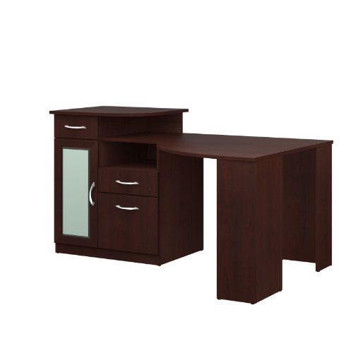 042976666156 - Bush Furniture Vantage Corner Desk, Harvest Cherry carousel main 1