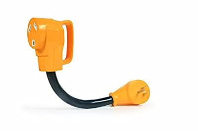 Camco RV PowerGrip Dogbone Electrical Adapter with Handle