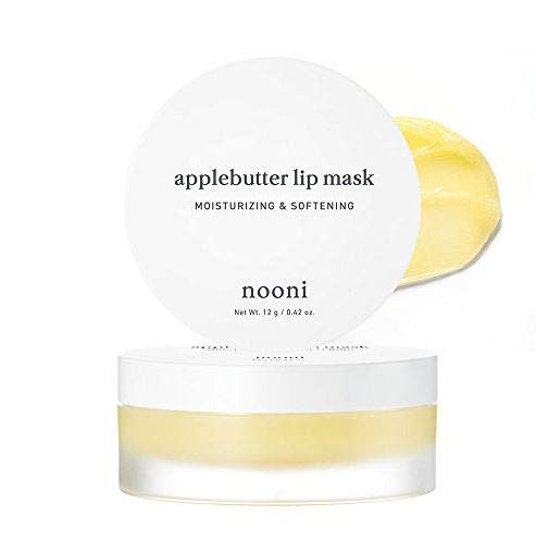 NOONI Applebutter Lip Mask - Korean Skin Care Sleep Mask for Your Lips, Lip Moisturizer for Lip Care and Lip treatment, Korean Beauty Secrets for Amazing Lips, Non-animal tested, Paraben-free