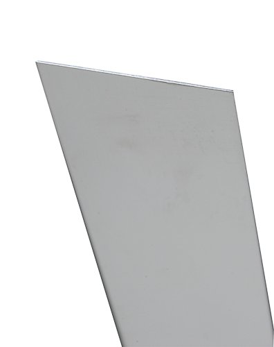 K&S Precision Metals 83072 Aluminum Sheet, 0.125'' Thickness x 6'' Width x 12'' Length, 1 pc, Made in USA by K & S
