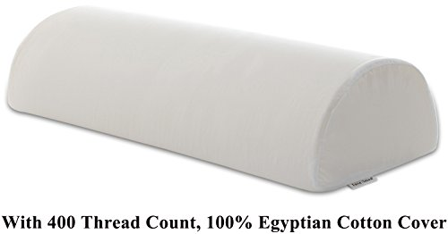 "InteVision Four Position Support Pillow (20.5"" x 8"" x 4.5"") with 400 Thread Count, 100% Egyptian Cotton Cover - Provides Best Support for Sleeping on Side or Back - helps relieve back pain"