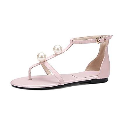 semplici scarpe e borse con pearl tanga sandali scarpe pelle per l estate  con grosse c0ac5086ad1