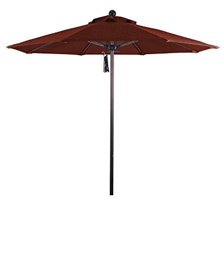Eclipse Collection 7.5' Fiberglass Market Umbrella PO DVent (Terra Bronze Outdoor Hanging)