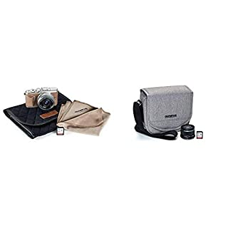Olympus Pen E-PL10 Brown Camera Body with Silver M.Zuiko Digital 14-42mm F3.5-5.6 EZ Lens, Camera Case, Lens Cloth & SD Card with Step Up Kit