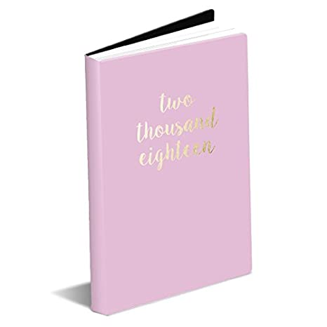 Graphique Deluxe Blush Pink Large Planner — Leatherette Cover 17 Month Planner w/Weekly Grids, Year in Review, Reference Pages, Embellished with ...