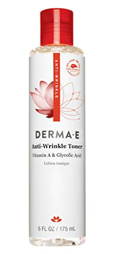 DERMA E Anti-Wrinkle Toner with Vitamin A Glycolic Acid 6 oz