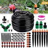 "Philonext Drip Irrigation,130ft/40M Garden Irrigation System, Adjustable Automatic Micro Irrigation Kits,1/4"" Blank…"