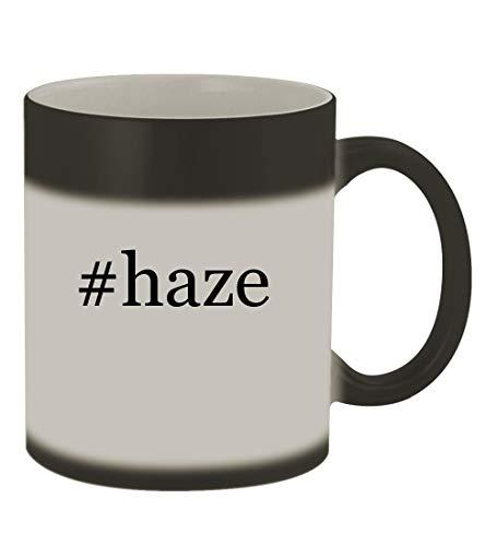 #haze - 11oz Color Changing Hashtag Sturdy Ceramic Coffee Cup Mug, Matte - Violet Shock G